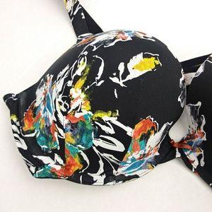 Cacique Intimates & Sleepwear - CACIQUE black floral print bra size 40D